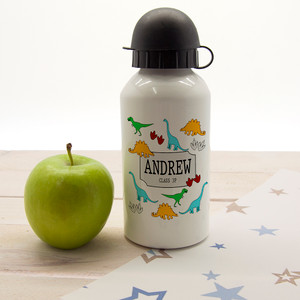 Personalised Jurassic Silhouette Water Bottle From Something Personal