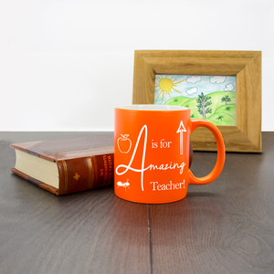 Personalised A Is For Amazing Teacher Matte Coloured Mug From Something Personal