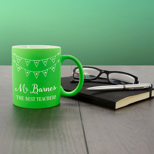 Personalised The Best Teacher Matte Coloured Mug From Something Personal