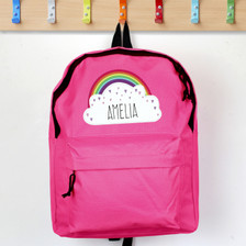 Personalised Rainbow Pink Backpack From Something Personal