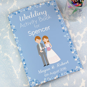 Personalised Boys Wedding Activity Book From Something Personal