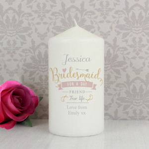 Personalised I Am Glad... Bridesmaid Candle From Something Personal