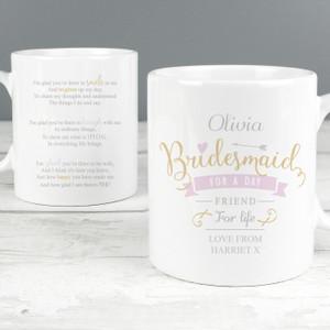 Personalised I Am Glad... Bridesmaid Mug From Something Personal