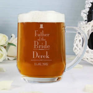 Personalised Decorative Wedding Father Of The Bride Tankard From Something Personal