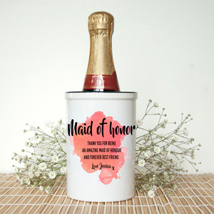 Personalised Maid Of Honour Miniature Champagne Bucket From Something Personal
