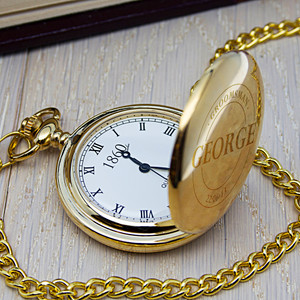 Personalised Groomsman Emblem Pocket Watch From Something Personal