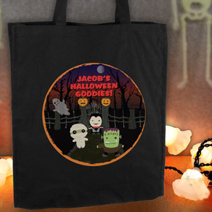 Personalised Halloween Black Cotton Bag From Something Personal