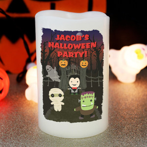 Personalised Halloween LED Candle From Something Personal