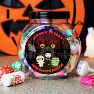 Personalised Halloween Sweet Jar From Something Personal