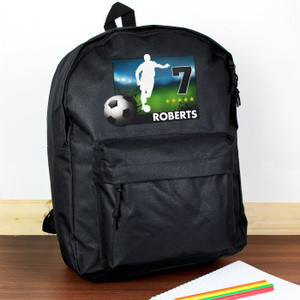 Personalised Team Player Black Backpack From Something Personal
