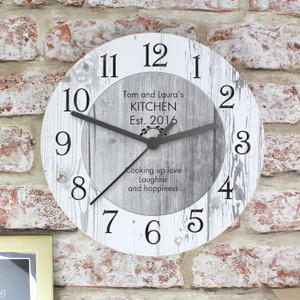 Personalised Shabby Chic Large Wooden Clock From Something Personal
