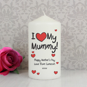 Personalised I Heart My Candle