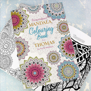 Personalised Mandala Colouring Book For Adults From Something Personal