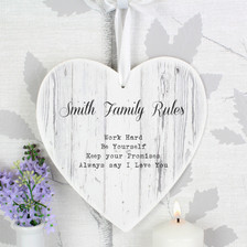 Personalised Rustic Large Wooden Heart Decoration From Something Personal