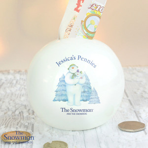 Personalised The Snowman & The Snowdog Money Box From Something Personal