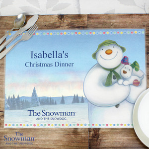 Personalised The Snowman & The Snowdog Placemat From Something Personal