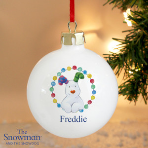 Personalised The Snowdog Bauble From Something Personal