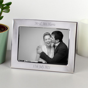 Personalised Landscape Silver Frame 5X7 From Something Personal