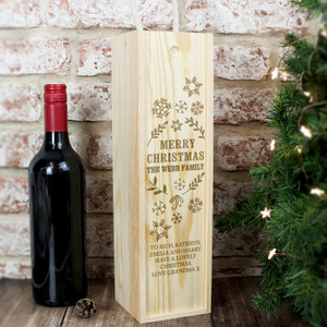 Personalised Christmas Frost Bottle Presentation Box From Something Personal