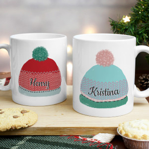 Personalised Woolly Hats Mug Set From Something Personal
