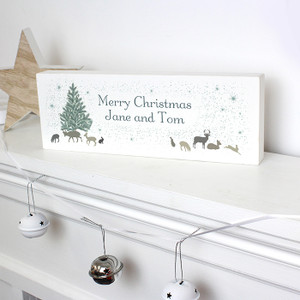 Personalised A Winter's Night Mantel Block From Something Personal