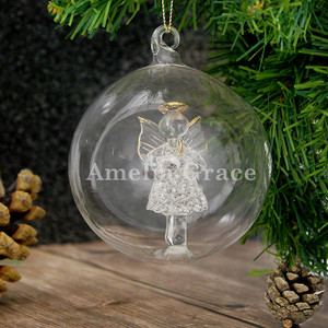 Personalised Name Only Angel Glass Bauble From Something Personal