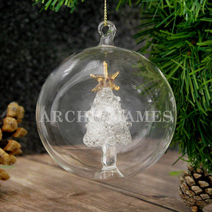 Personalised Name Only Christmas Tree Glass Bauble From Something Personal