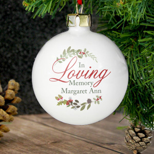 Personalised In Loving Memory Wreath Bauble From Something Personal