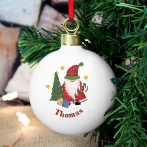 Personalised Tartan Santa Bauble From Something Personal