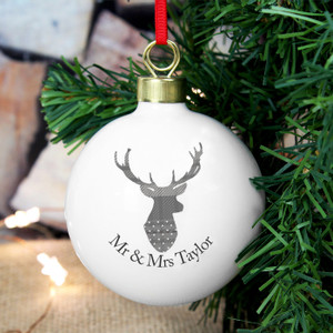 Personalised Highland Stag Bauble From Something Personal