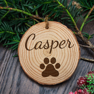 Personalised Engraved Family Cat Christmas Tree Decoration From Something Personal