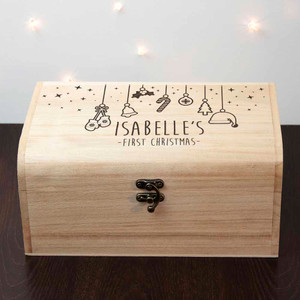 Personalised Baby's First Christmas Eve Chest From Something Personal