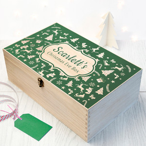 Personalised Festive Christmas Eve Chest From Something Personal