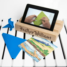 Personalised Double Office Desk Tablet Holder From Something Personal