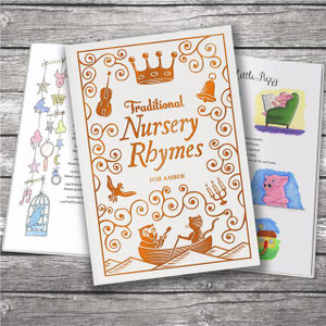Personalised Traditional Nursery Rhymes Embossed Classic Hardcover From Something Personal