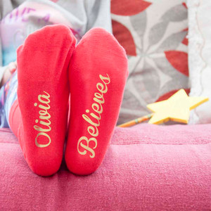 Personalised Kids Christmas Day Socks From Something Personal