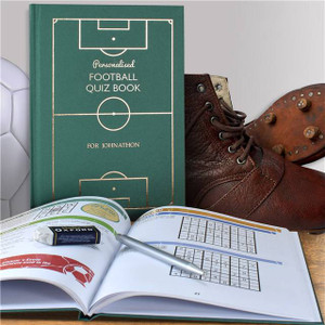 Personalised Football Quiz Book From Something Personal