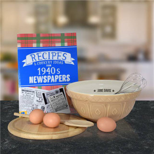 Personalised Newspaper Recipe Book From Something Personal