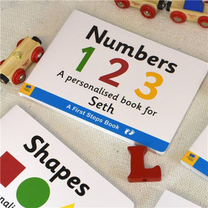 Personalised First Steps Numbers Board Book For Toddlers From Something Personal