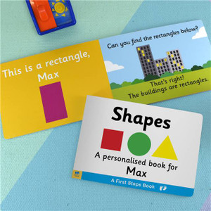 Personalised First Steps Shapes Board Book For Toddlers From Something Personal