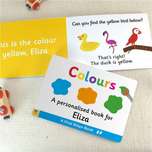 Personalised First Steps Colours Board Book For Toddlers From Something Personal