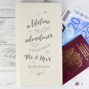 Personalised A Lifetime Of... Travel Document Holder From Something Personal
