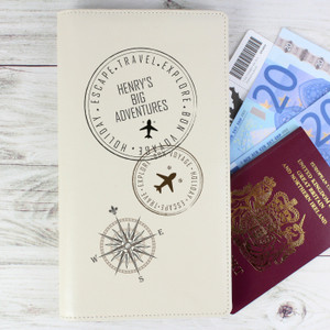 Personalised Stamp Travel Document Holder From Something Personal