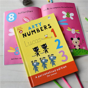 Personalised Arty Mouse Numbers Book From Something Personal
