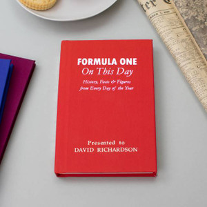 Personalised Formula 1 On This Day Book From Something Personal