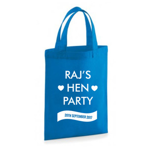 Personalised Hen Party Banner Bag From Something Personal