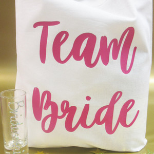 Personalised Team Bride Party Bag From Something Personal