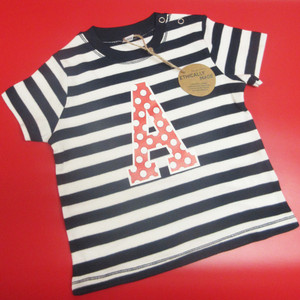Personalised Kids Stripe Initial T Shirt From Something Personal