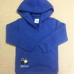 Personalised Baby Tractor Hoodie From Something Personal