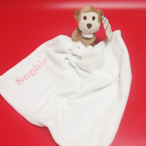 Personalised Monty Monkey Comforter From Something Personal